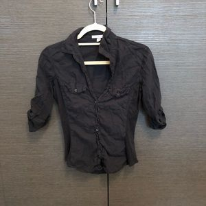 James perse Black button up